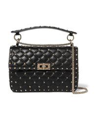 Valentino Garavani The Spike Medium Quilted Leather Shoulder Bag