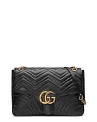 Gucci Gg Large Marmont 20 Matelasse Leather Shoulder Bag