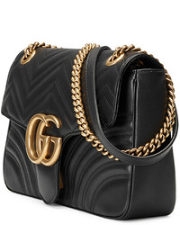 411b18e49544 Gucci Gg Marmont 20 Medium Quilted Shoulder Bag Black, $2,490 ...