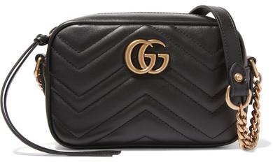 4a9b59da4131 ... Gucci Gg Marmont Camera Mini Quilted Leather Shoulder Bag Black