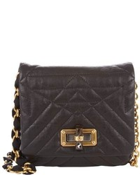 Lanvin Happy Mini Pop Crossbody Black