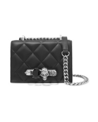 Alexander McQueen Jewelled Satchel Small Embellished Quilted Leather Shoulder Bag