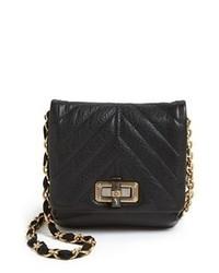 Lanvin Happy Mini Leather Crossbody Bag Black