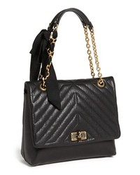 Lanvin Happy Quilted Flap Shoulder Bag Black