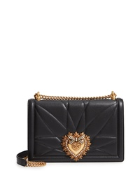 Dolce & Gabbana Large Devotion Lambskin Leather Shoulder Bag