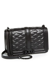Rebecca Minkoff Love Leather Crossbody Bag Black