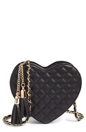 MALI AND LILI Mali Lili Quilted Heart Vegan Leather Crossbody Bag