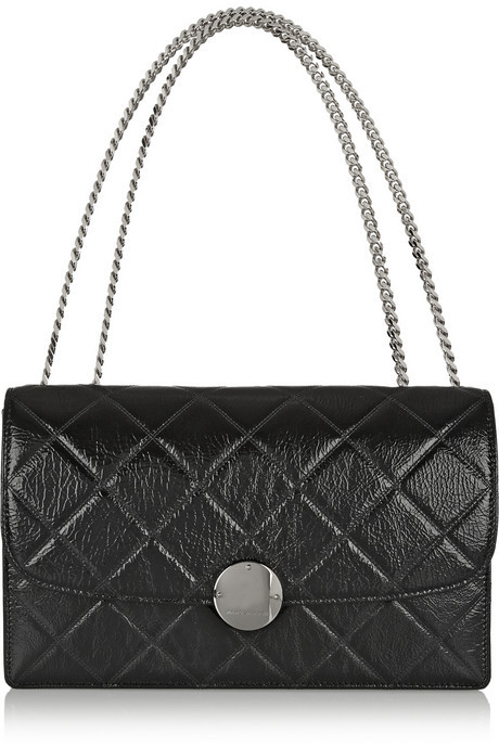 Black Quilted Leather Crossbody Bags Marc Jacobs Trouble Shoulder Bag