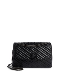Balenciaga Medium Bb Round Leather Shoulder Bag
