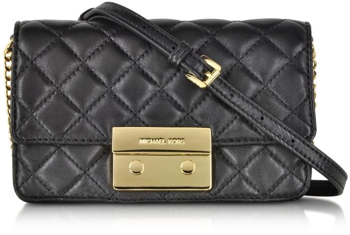 d50e630b2faf ... Michael Kors Michl Kors Sloan Black Quilted Leather Chain Crossbody Bag  ...