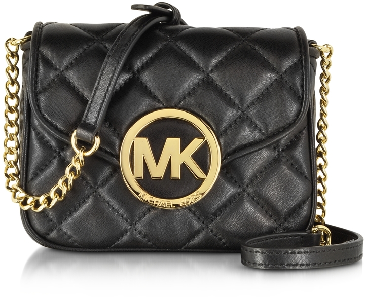 02904fda2196 ... Black Quilted Leather Crossbody Bags Michael Kors Michl Kors Small  Fulton Quilted Crossbody Bag ...