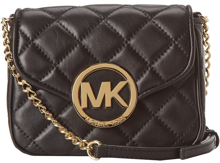 0fa2e2568fb4 ... Black Quilted Leather Crossbody Bags MICHAEL Michael Kors Michl Michl  Kors Fulton Quilt Small Crossbody ...
