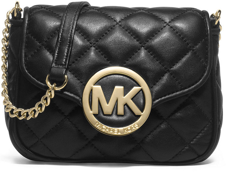 91f3ea8270733 ... Leather Crossbody Bags MICHAEL Michael Kors Michl Michl Kors Fulton  Small Quilted Crossbody ...