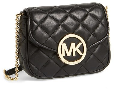 035af794a34f ... Black Quilted Leather Crossbody Bags MICHAEL Michael Kors Michl Michl  Kors Small Fulton Quilted Crossbody Bag ...