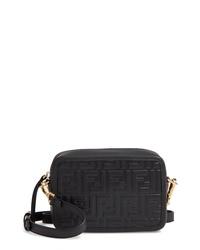 Fendi Mini Logo Embossed Calfskin Leather Camera Bag