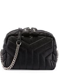 ddd7ad55eb02 Saint Laurent Monogram Y Quilted Mini Leather Camera Crossbody Bag ...