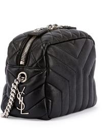 fd218ad7b0ab ... Saint Laurent Monogram Y Quilted Mini Leather Camera Crossbody Bag Black