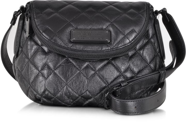 ... Marc by Marc Jacobs New Q Quilted Mini Natasha Black Leather Crossbody  Bag ...