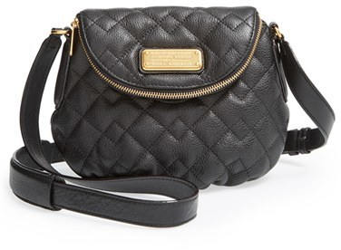 41f6da9b514d2 ... Black Quilted Leather Crossbody Bags Marc by Marc Jacobs New Q Quilted Mini  Natasha Crossbody Bag ...