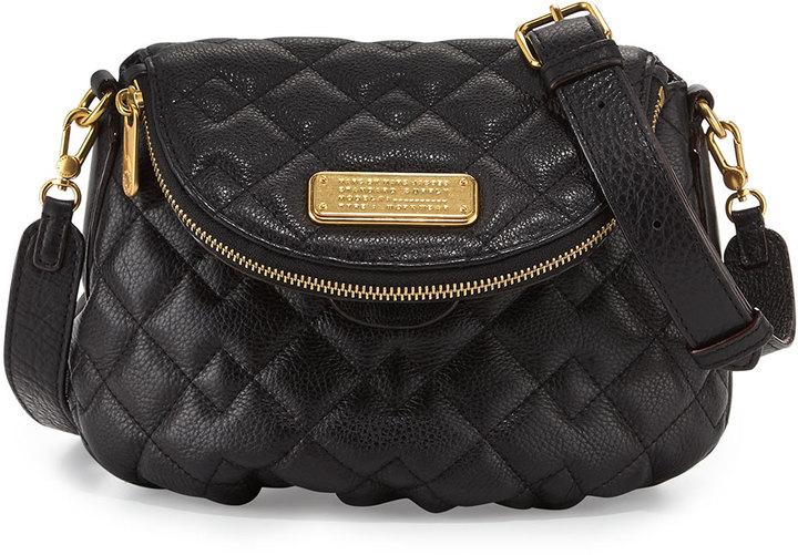 4cb26daa5609 ... Marc by Marc Jacobs New Q Quilted Natasha Crossbody Bag Black ...