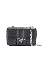 cfd9d5098894 Women s Black Quilted Crossbody Bags by Prada