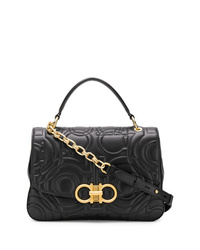 Women s Black Quilted Crossbody Bags by Salvatore Ferragamo ... f20b27350f03f