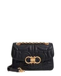 Salvatore Ferragamo Quilted Gancio Leather Shoulder Bag