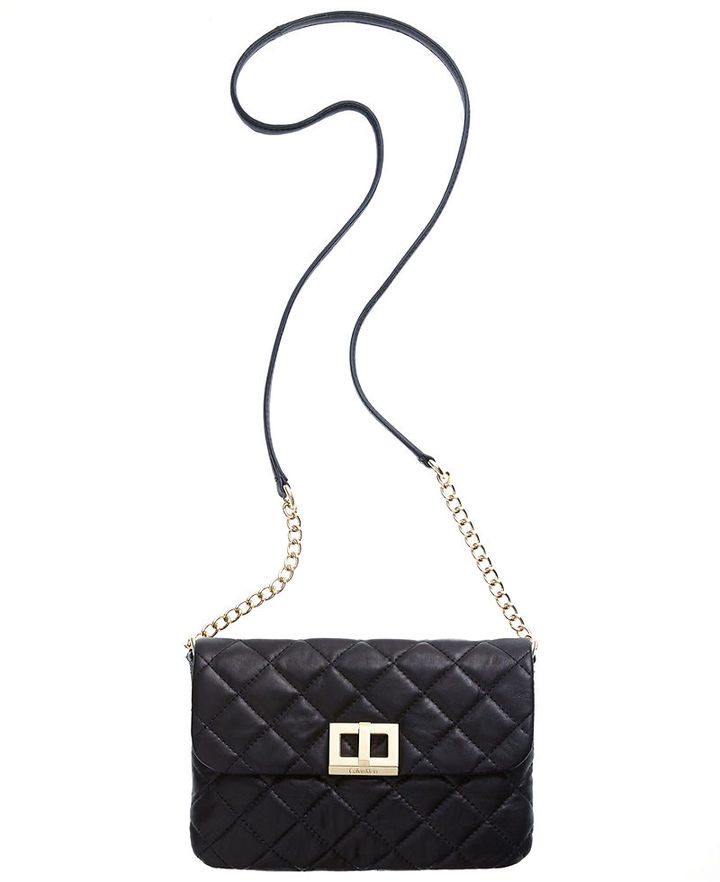 Calvin Klein Quilted Lamb Leather Crossbody | Where to buy & how ... : calvin klein quilted leather crossbody bag - Adamdwight.com
