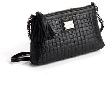 Quilted Leather Crossbody Bag Black By Calvin Klein