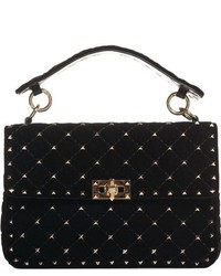 Valentino Garavani Rockstud Quilted Leather Shoulder Bag Black