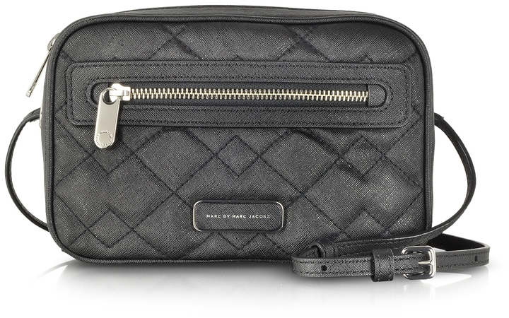 56cd260659 ... Marc by Marc Jacobs Sally Quilted Saffiano Leather Crossbody Bag ...