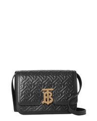 Burberry Small Monogram Leather Tb Bag