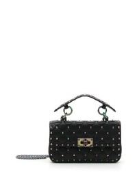 Small oil slick rockstud spike lambskin shoulder bag medium 8688936