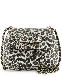 Love Moschino Small Quilted Faux Leather Crossbody Leopard