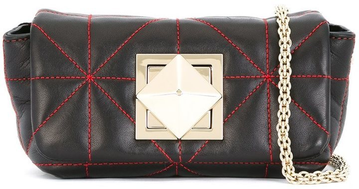 d538ecbf10 Quilted Shoulder Bag. Black Quilted Leather Crossbody Bag by Sonia Rykiel