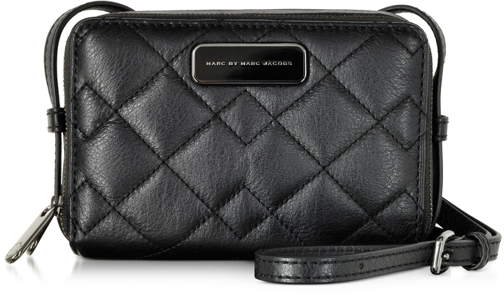 Marc By Jacobs Sophisticato Black Quilted Leather Crossbody Bag