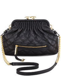 Marc Jacobs Stam Little Quilted Leather Crossbody Bag Black
