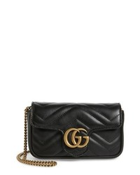 Gucci Supermini Gg Marmont 20 Matelasse Leather Shoulder Bag