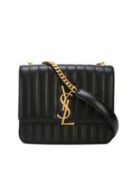 Saint Laurent Vicky Large Matelass Shoulder Bag