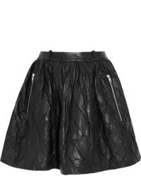Preen Line Iris Quilted Leather Mini Skirt