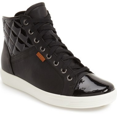 88a081cc8441 ... Ecco Soft 7 Quilted High Top Sneaker ...