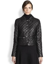 Michael Kors Michl Kors Plong Quilted Leather Jacket