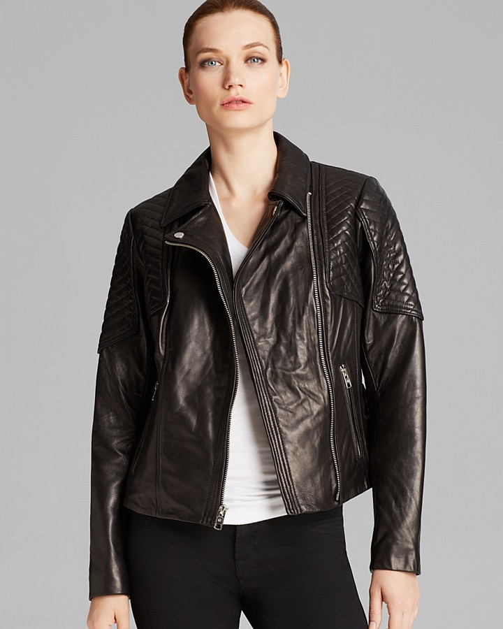 Michael Michael Kors Michl Michl Kors Jacket Missy Leather Quilted
