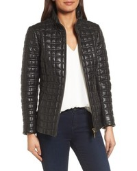 New york quilted leather jacket medium 4913465