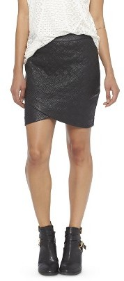 Mossimo Faux Leather Quilted Mini Skirt Black | Where to buy & how ...