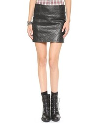Love Leather The Quilted Straight Skirt