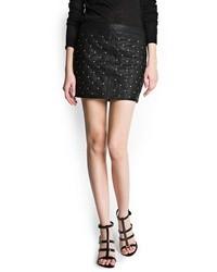 Mango Quilted Miniskirt