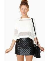 Nasty Gal Quilted Zip Skirt