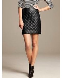Banana Republic Quilted Faux Leather Mini