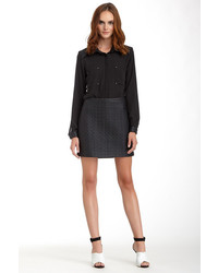 Romeo & Juliet Couture Quilted Faux Leather Mini Skirt